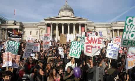 student protest tuition fees