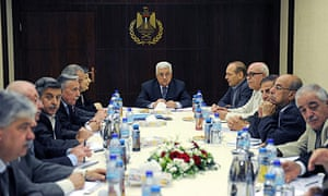 Mahmoud Abbas chairs a meeting of the Palestinian Executive Committee in Ramallah
