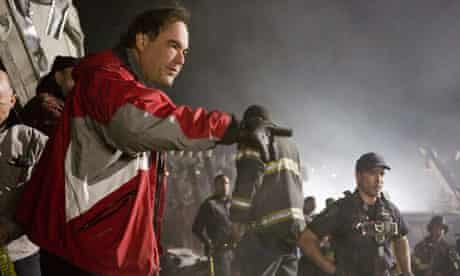 Oliver Stone on the set of World Trade Centre