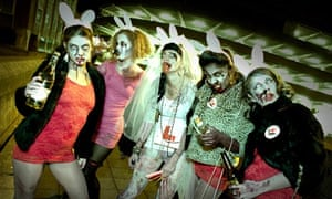 A Zombie hen party in Bristol