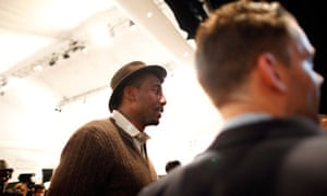 Stoudemire arrives at the Richard Chai
