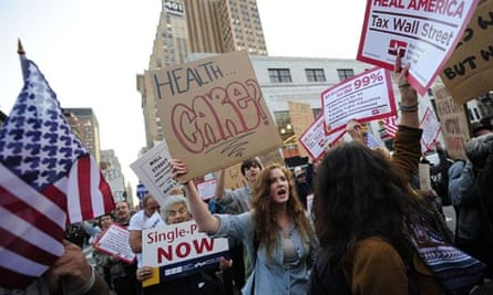 Occupy Wall Street supporters march call
