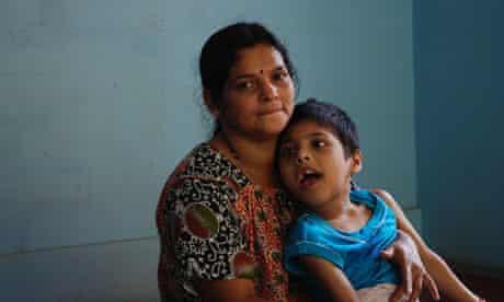 Chandika Rai and her son Kaushiq