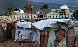 Makeshift homes in Port-au-Prince