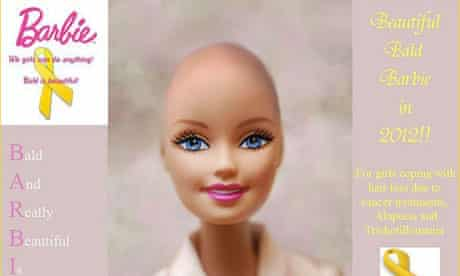 Bald Barbie doll
