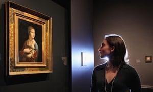 Portrait of Cecilia Gallerani by Leonardo da Vinci at the National Gallery