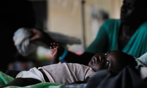 malaria-infected baby
