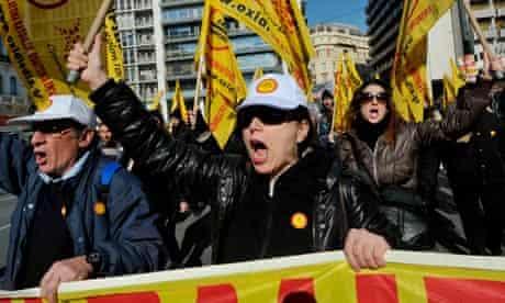 Greek protests, Athens, Eurozone crisis