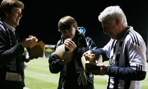 Football fans at Forest Green Rovers FC