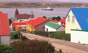 A view of Port Stanley, the Falkland Islands