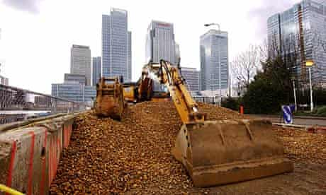 Wood Wharf near Canary Wharf in London's Docklands, which is going to be redeveloped.