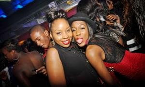 Clubbers at a DJ Abrantee Afrobeats night
