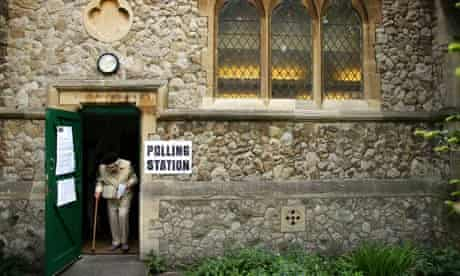 A polling-station church in west London.