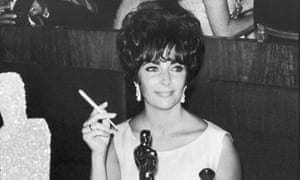 Elizabeth Taylor celebrating in Hollywood after winning an Oscar