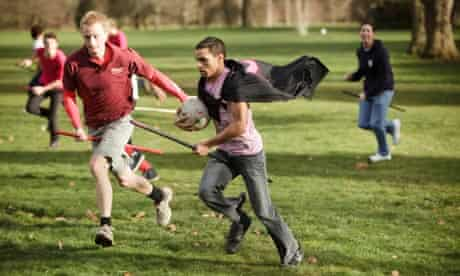 University of Oxford students play Quidditch