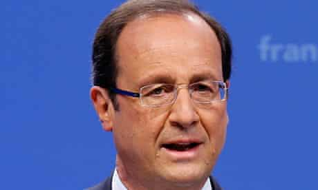 Francois Hollande, Socialist Party candidate, French elections