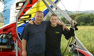 Father and son Paul and Mikey McMahon at the Round Britain Microlight Ralley