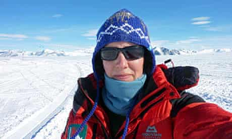 Felicity Aston takes a picture of herself at Union glacier in November last year