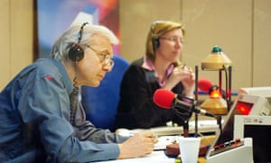 John Humphrys and Sarah Montague in the Today'studio.