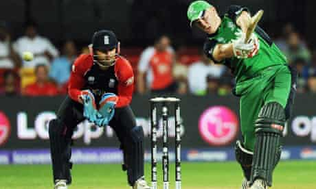 Ireland cricketer Kevin O'Brien playing England in Bangalore last year