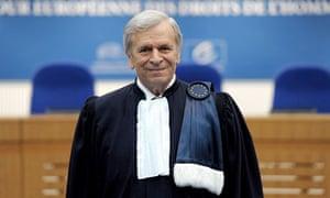 President of the European Court of Human Rights, Sir Nicolas Bratza in Strasbourg, France