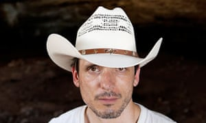 Jeremy Deller in the bat cave near Concan, Texas.