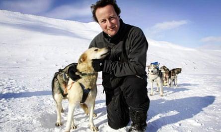 David Cameron husky dogs Svalbard