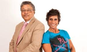 Mihir Bose and Fatima Whitbread
