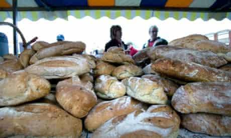 Bread at a farmers' market