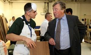 Ken Clarke visits prison