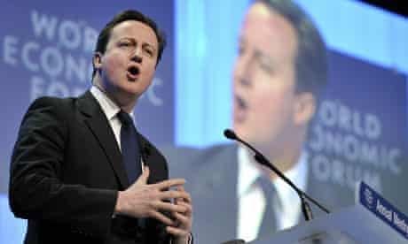 British prime minister David Cameron at Davos
