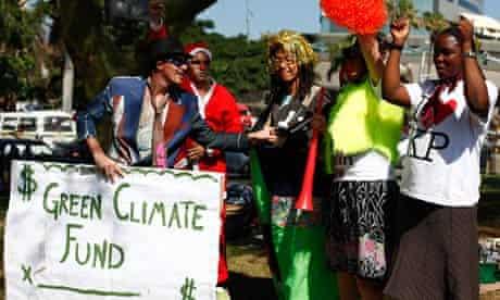 Climate change activists at the UNFCCC