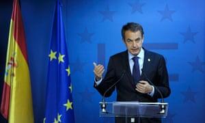 Spain's former prime minister Rodriguez Zapatero