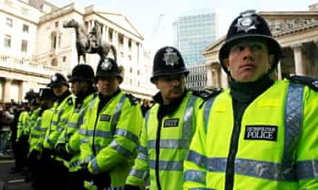 Police on the streets of London in 2009