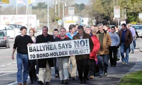 Ballyhea villagers march against the bond-holder bailout