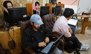 Internet cafe in Tehran