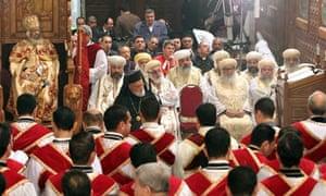 Christian Coptics hold Christmas mass