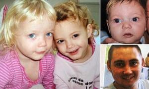 Twins Holly and Ella Smith, 4, Jordan Smith, 2 and Reece Smith, 19