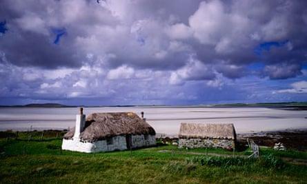 Farmhouse near Traigh Bhalaigh beach, North Uist, Outer Hebrides