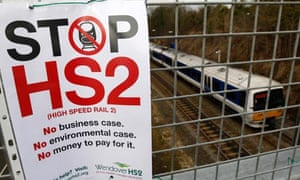 An HS2 protest sign in Wendover