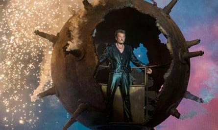 Legendary French singer Johnny Hallyday