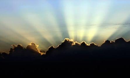 Heaven fluffy clouds light