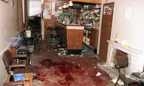 The bloodstained Heights Bar at Loughinisland, after six Catholics had been shot dead
