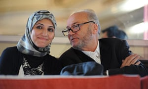 George Galloway with former Respect leader Salma Yaqoob