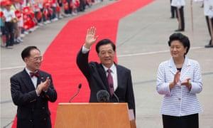 Liu Yandong with Hu Jintao, China's president