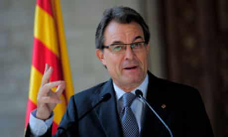 Catalonia's president Artur Mas