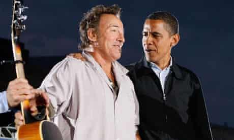 Bruce Springsteen and Barack Obama, November 2008