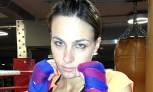 Lucy Fry in the boxing gym … 'The smell of sweat fills the room.'