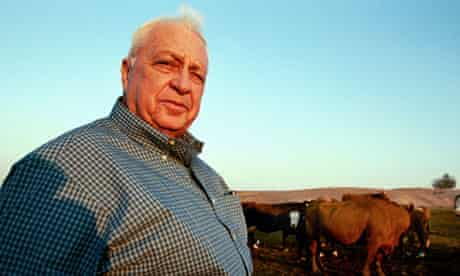 Israeli prime minister Ariel Sharon on his farm, photographed for G2.