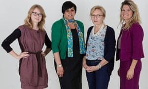 From left, Fiona Ranford, Rehana Azan, Yvonne Roberts, Melissa Kite.